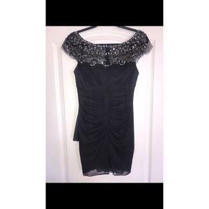 Nordstrom Dresses - Embellished Grey Cocktail Dress Size 4